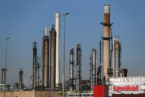 A general view of Exxonmobil or Exxon Mobil refinery in the Port of Rotterdam