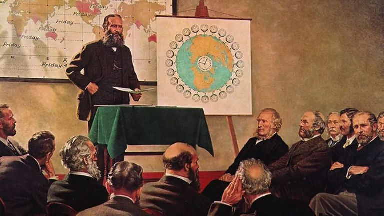Sandford Fleming showing time zones