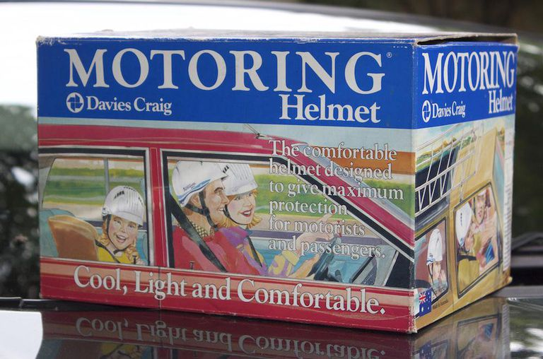 Driving helmet in box