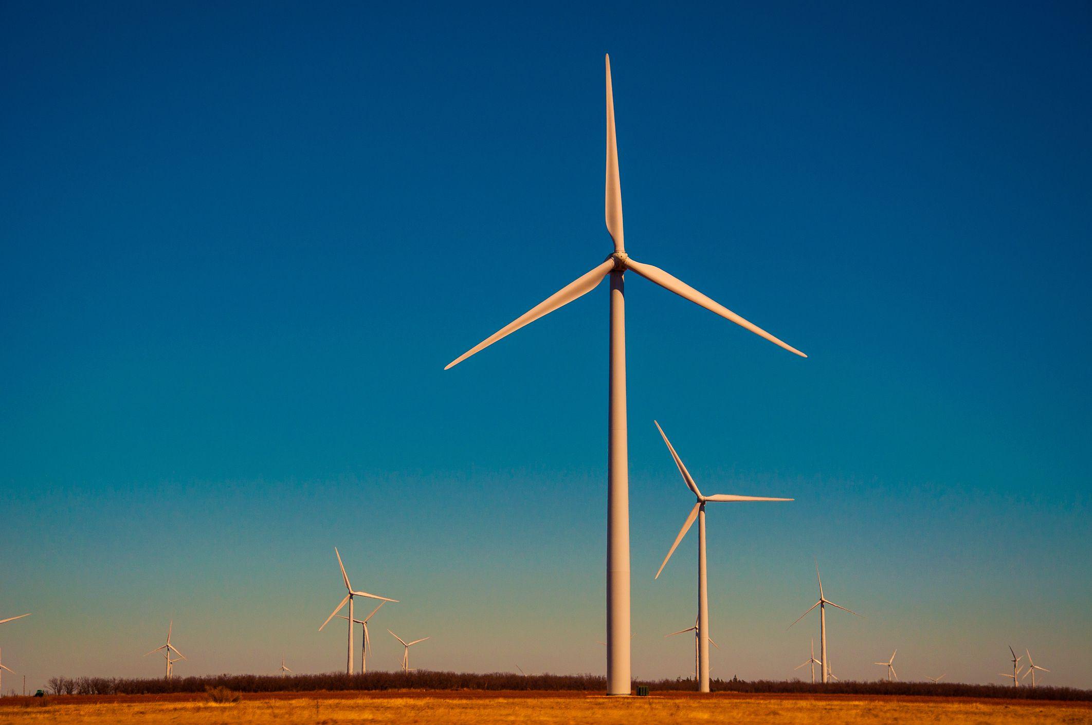 Wind farm in Lubbock, Texas