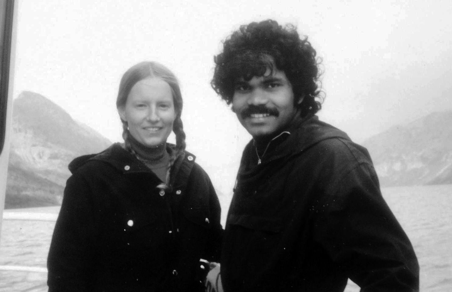 PK Mahanandia and Charlotte Von Schedvin early in their relationship. According to PK, the true meaning of humanity 'is love.'