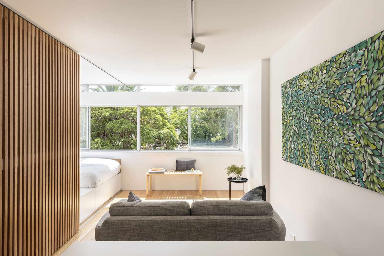 boneca micro-apartment brad swartz architect interior living room