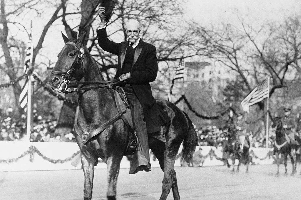 Gifford Pinchot riding on horseback in parade