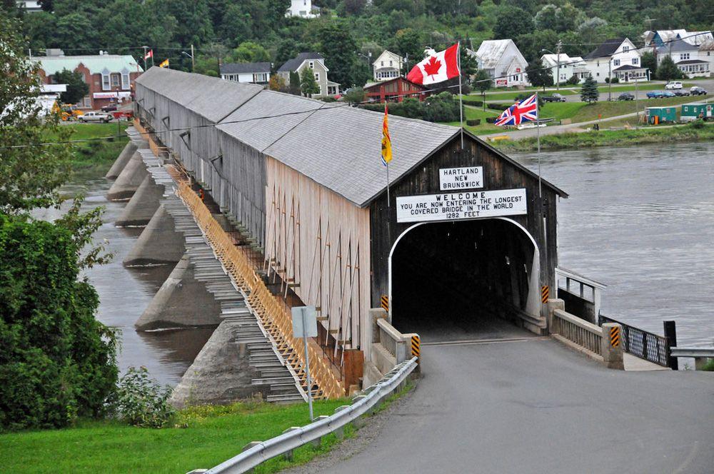 Canada's Hartland Bridge on a summer day