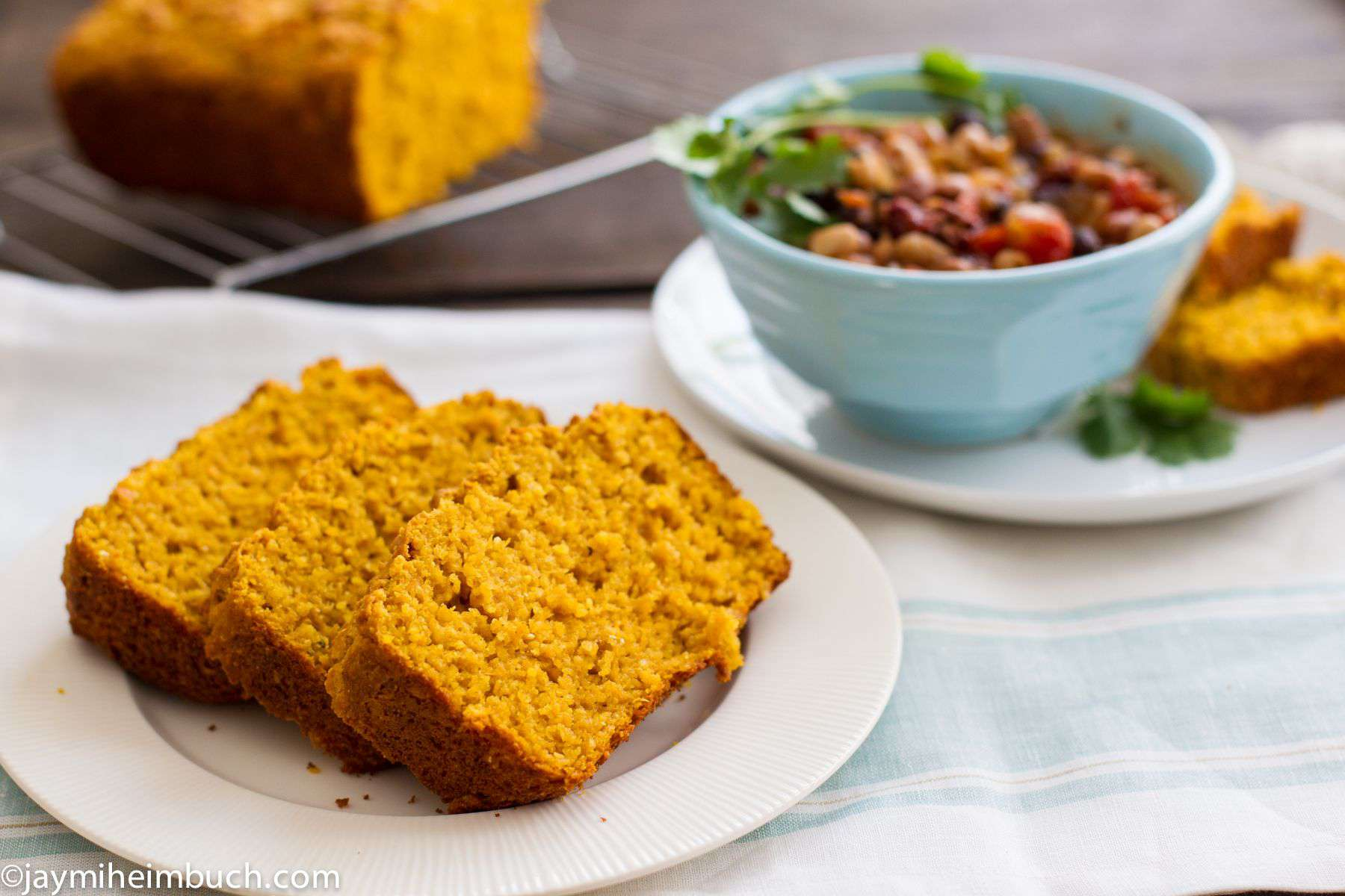 sweet potato cornbread photo