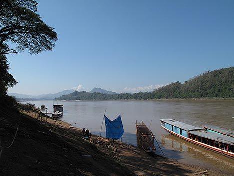 mekong river in laos photo