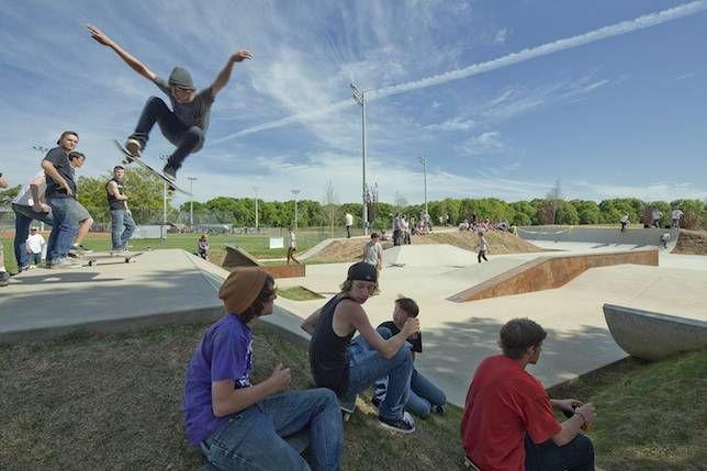 the skate park at Lions Park
