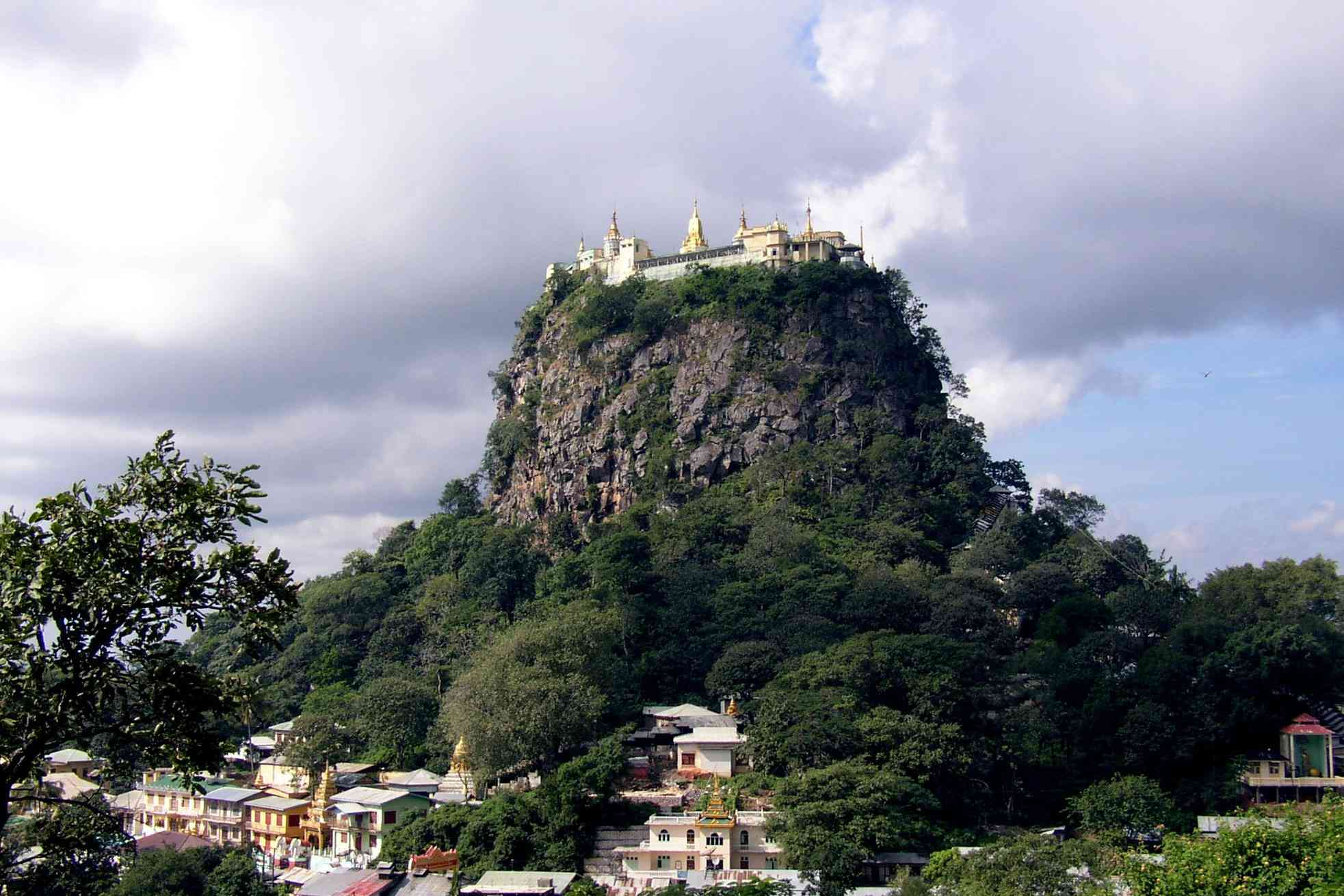 Taung Kalat Monastery on Mount Popa in Central Myanmar