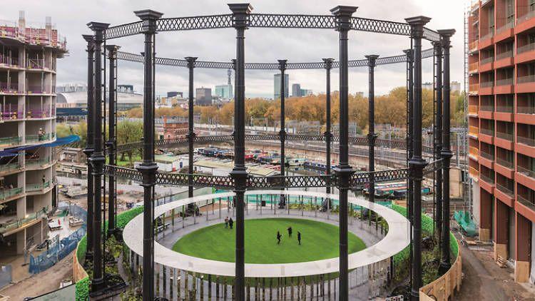 Gasómetro histórico de Londres renace como espacio verde público