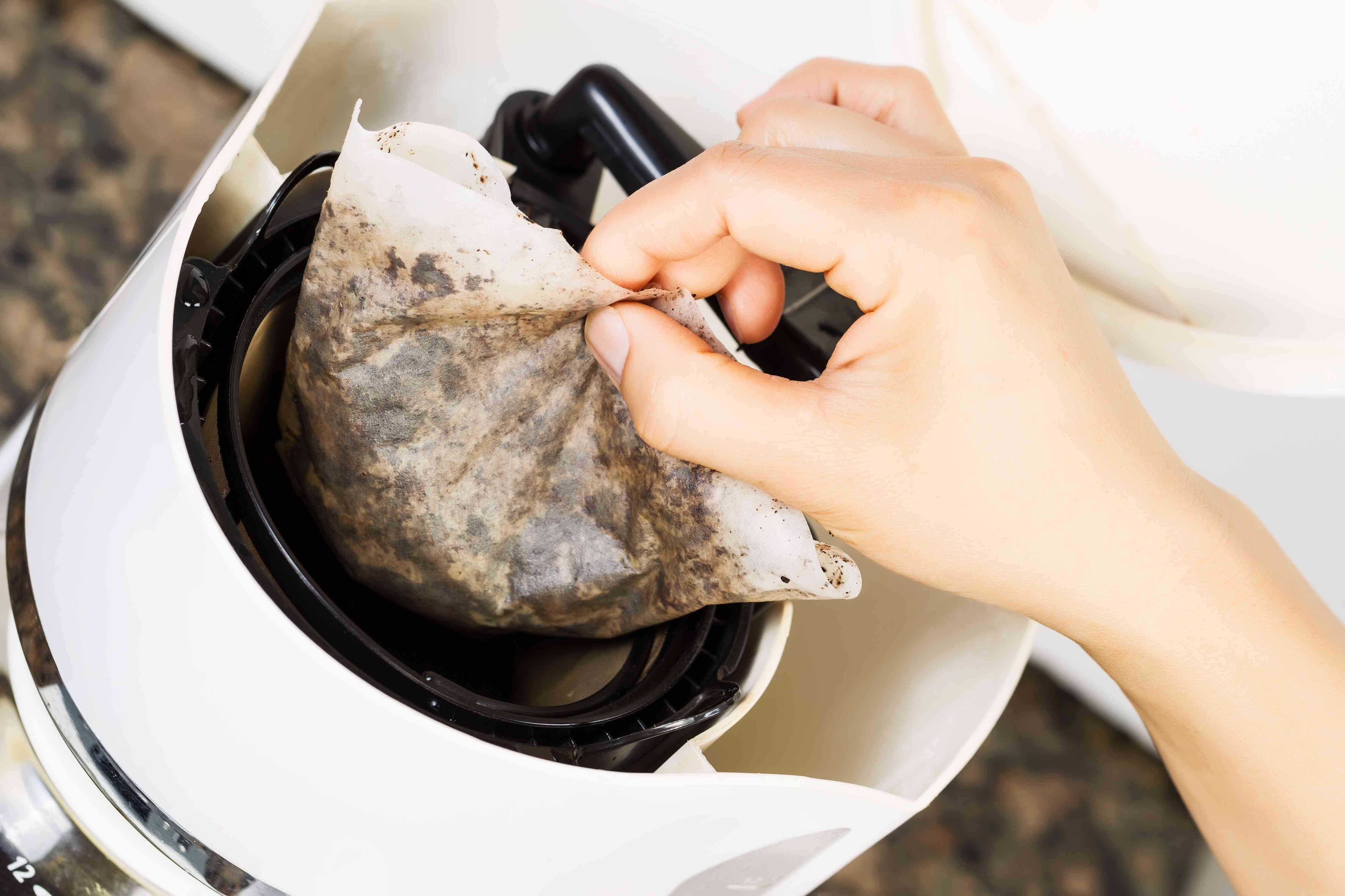 leftover coffee grounds