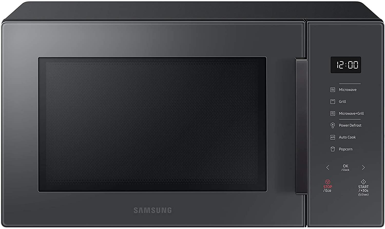 Samsung 1.1 cu. Ft. Countertop Microwave with Grilling Element in Charcoal