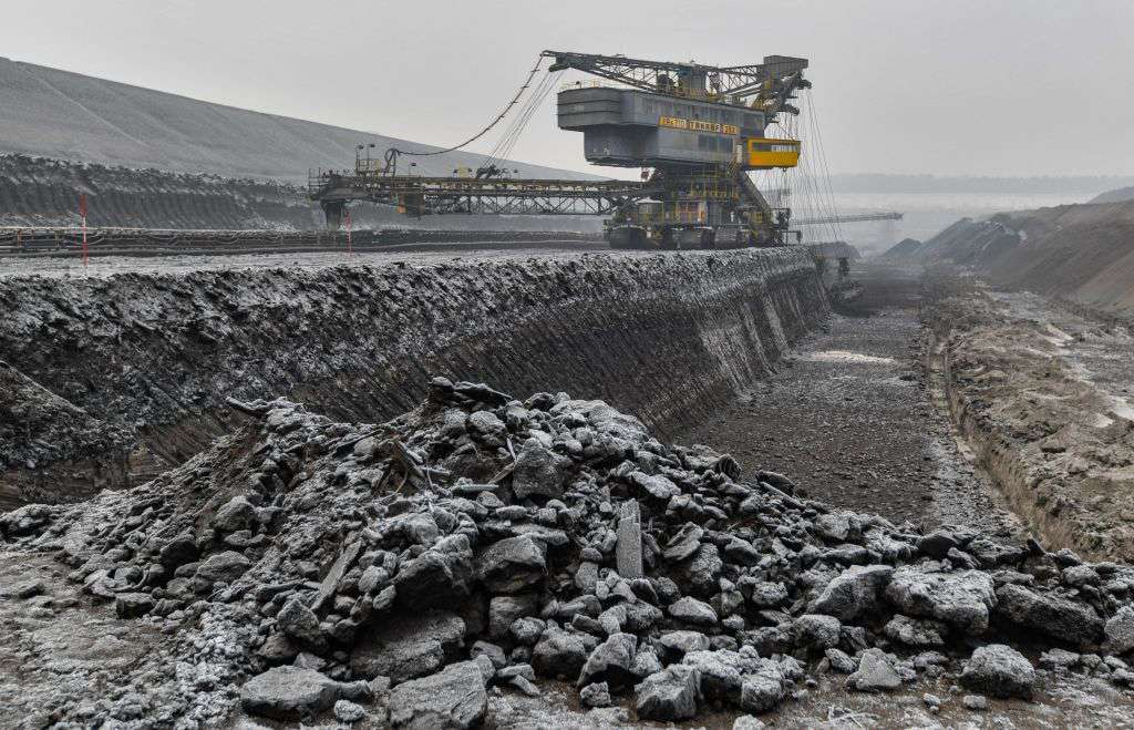 The Welzow-Sued coal mine in Germany