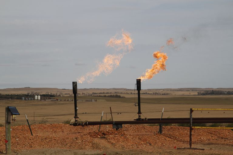Natural gas being flared