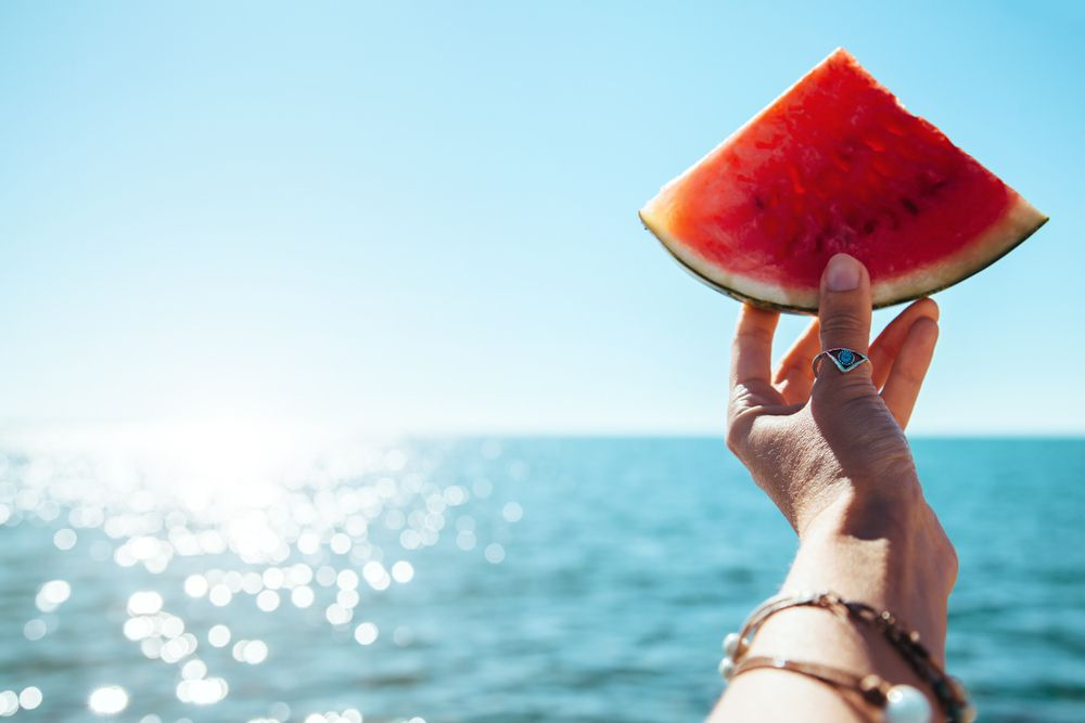 watermelon, ocean