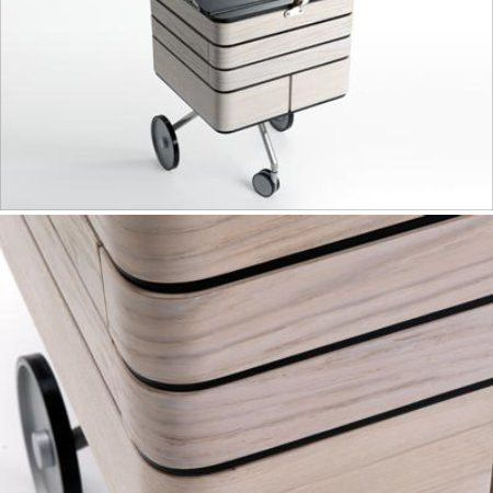 Creative Industrial Objects home office on wheels