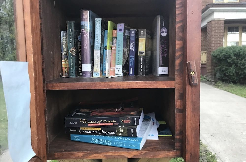 inside a Little Free Library