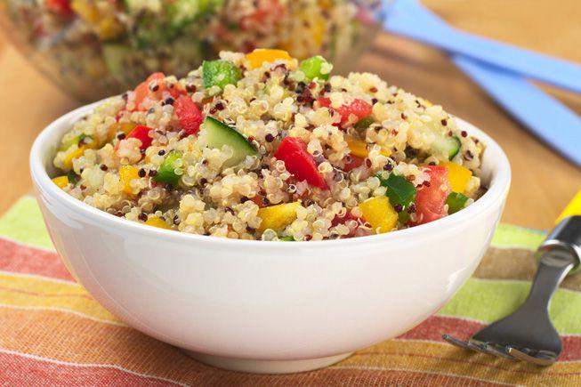 Vegetable and quinoa salad