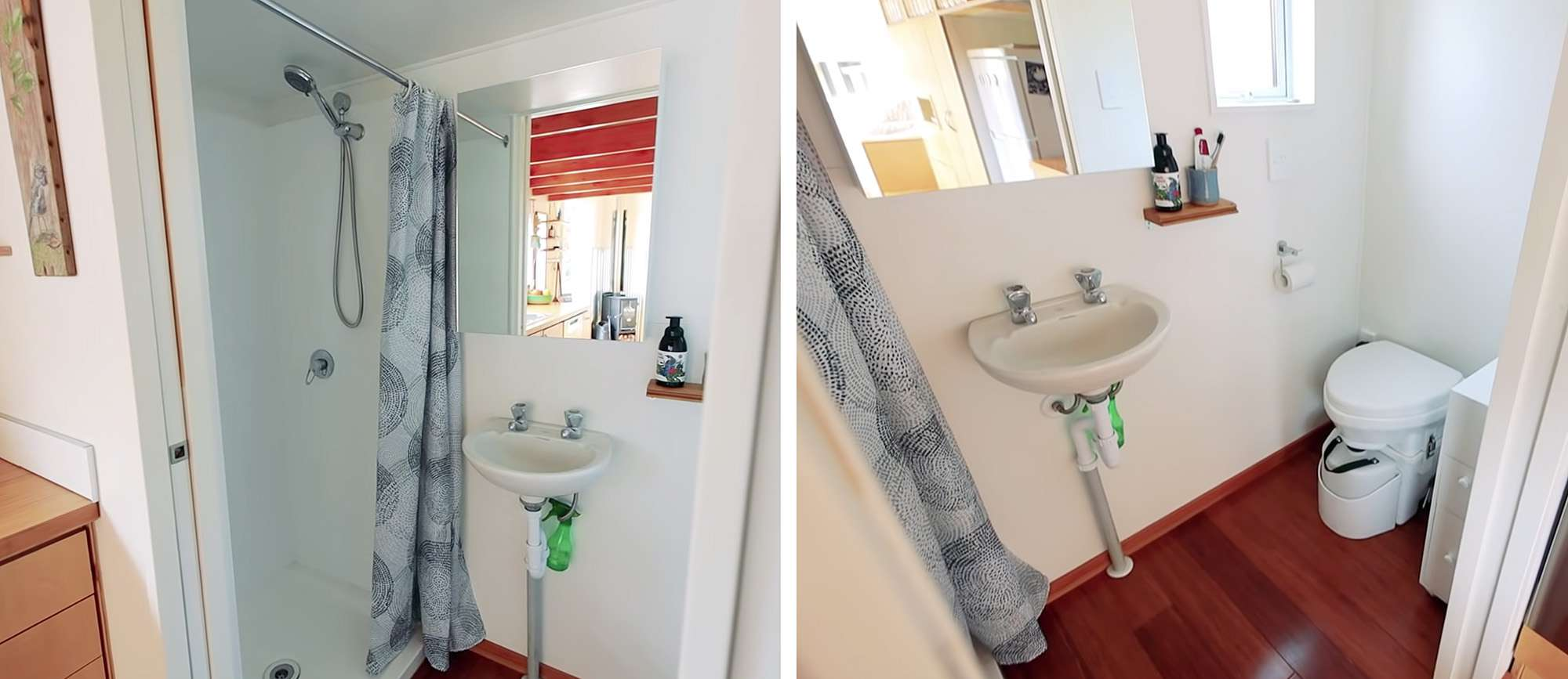 tiny house with movie loft Living Big In A Tiny House bathroom