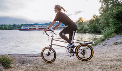 VELLO bike on gravel