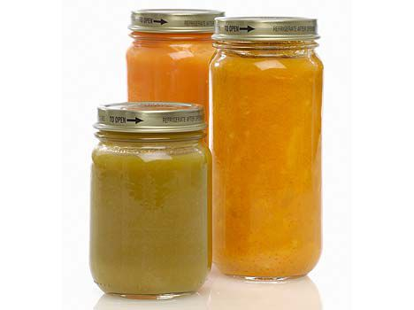 organic baby food jars photo