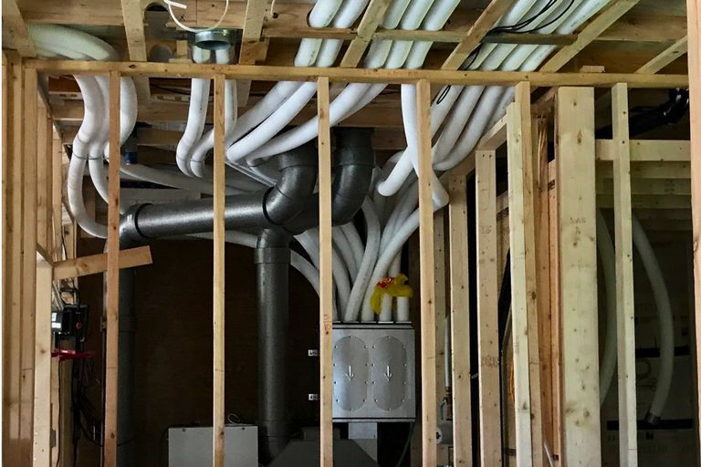 "heat recovery ventilator and ""hygiene"" ductwork in Minden, Ontario/ Lloyd Alter"