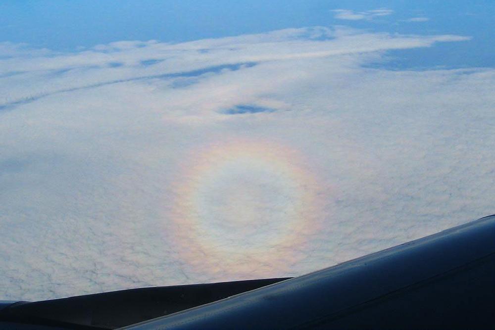 Glory (circular) rainbow over South Africa