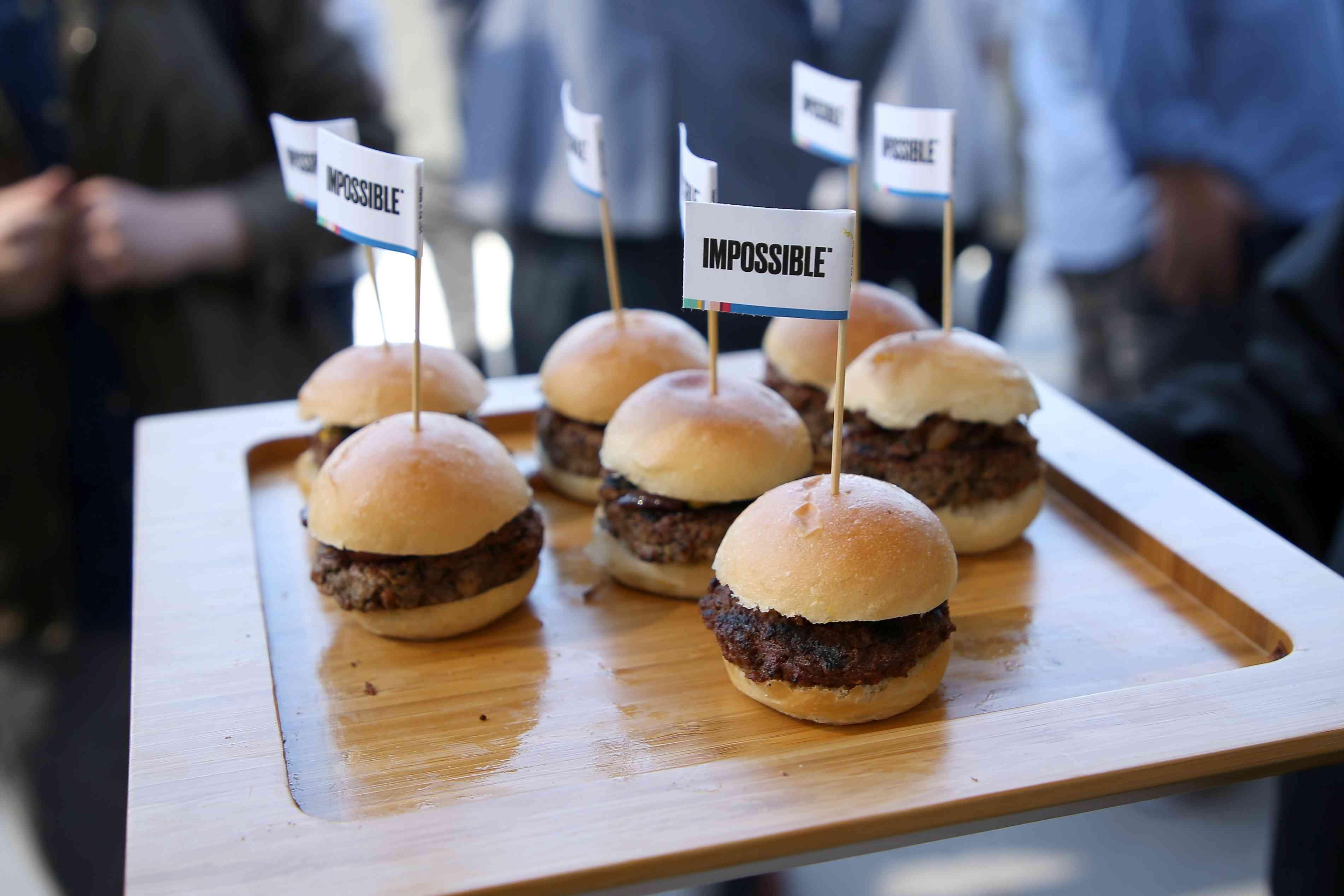 Impossible Burger sliders