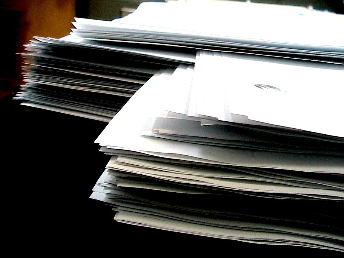 Stack of paper image