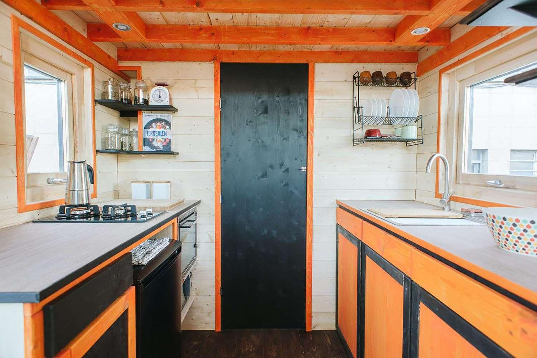 idle tiny house kitchen