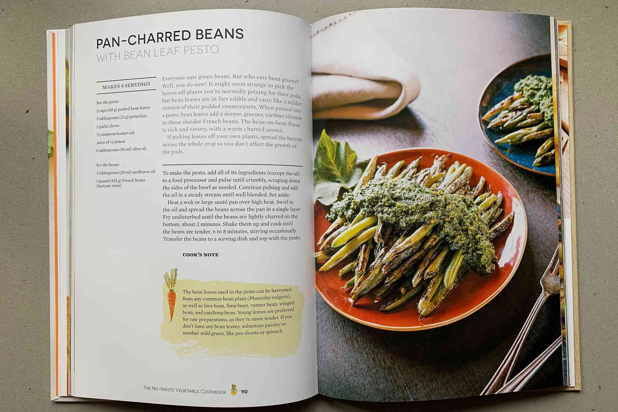 bean recipe from No-Waste Vegetable Cookbook
