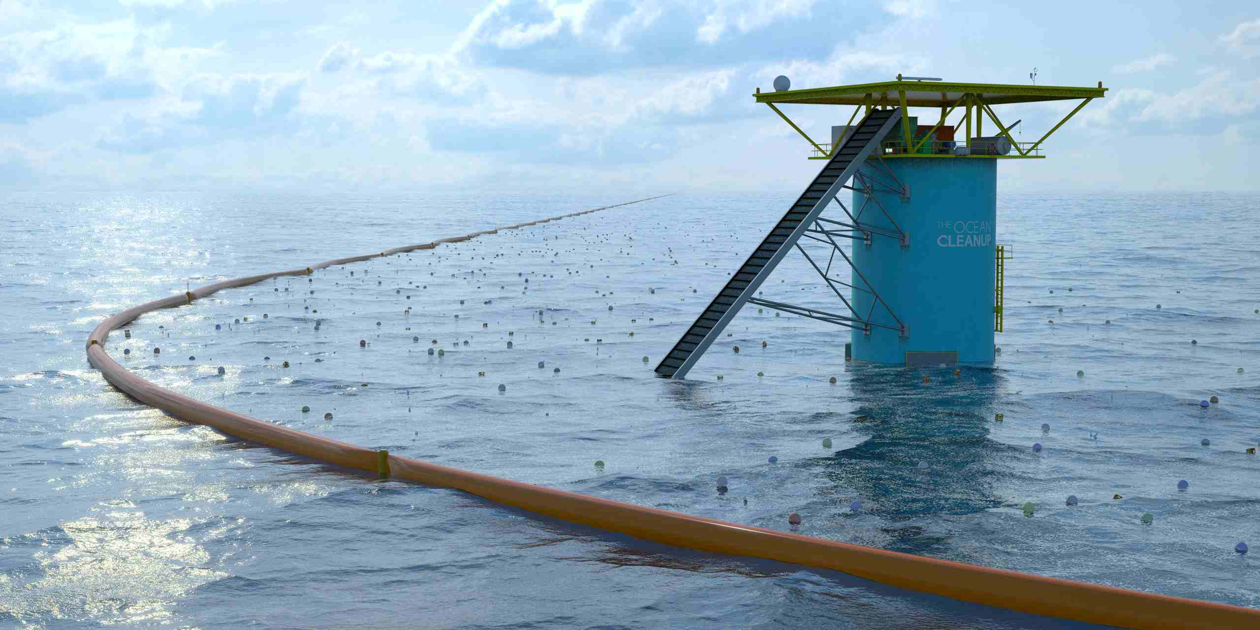 Oceanic Array cleaning the ocean