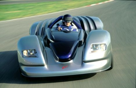 Rinspeed R One Driving on Racetrack Photo