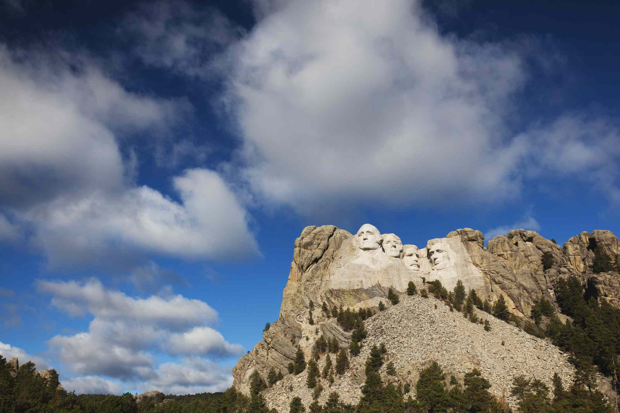 Mount Rushmore National Memorial in the Black Hills National Forest