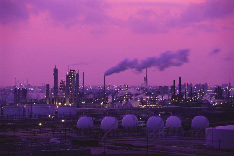 Exxon drilling oil plant