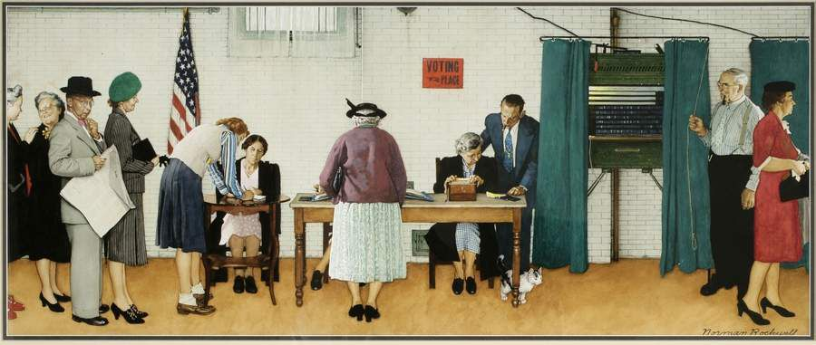 Norman Rockwell Election Day 1944