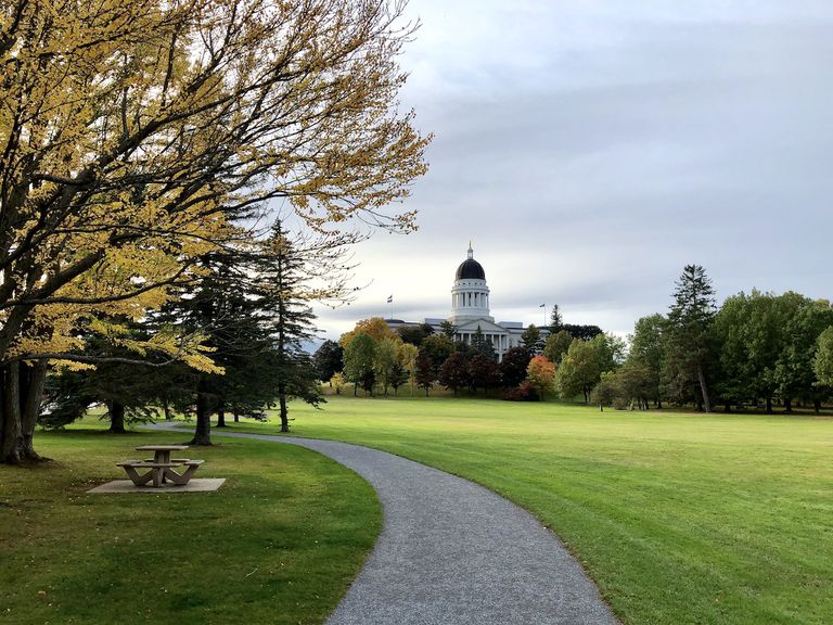 Maine State Capital building in Augusta, Maine