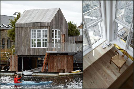 Floating hotel in Copenhagen.