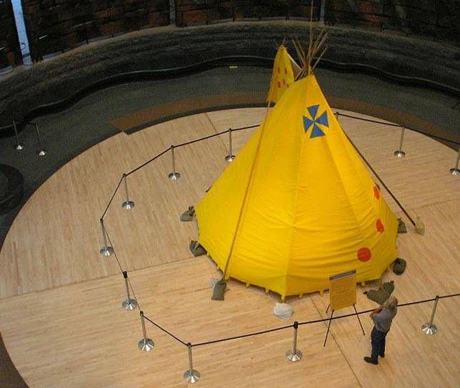 Tipi in museum