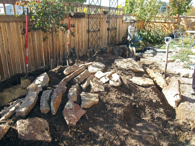 Preparing a yard for a rock garden