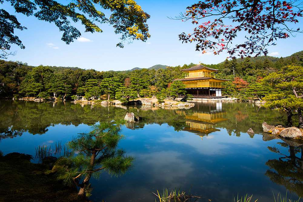 Temple of the Golden Pavilion in Kyoto, Japan