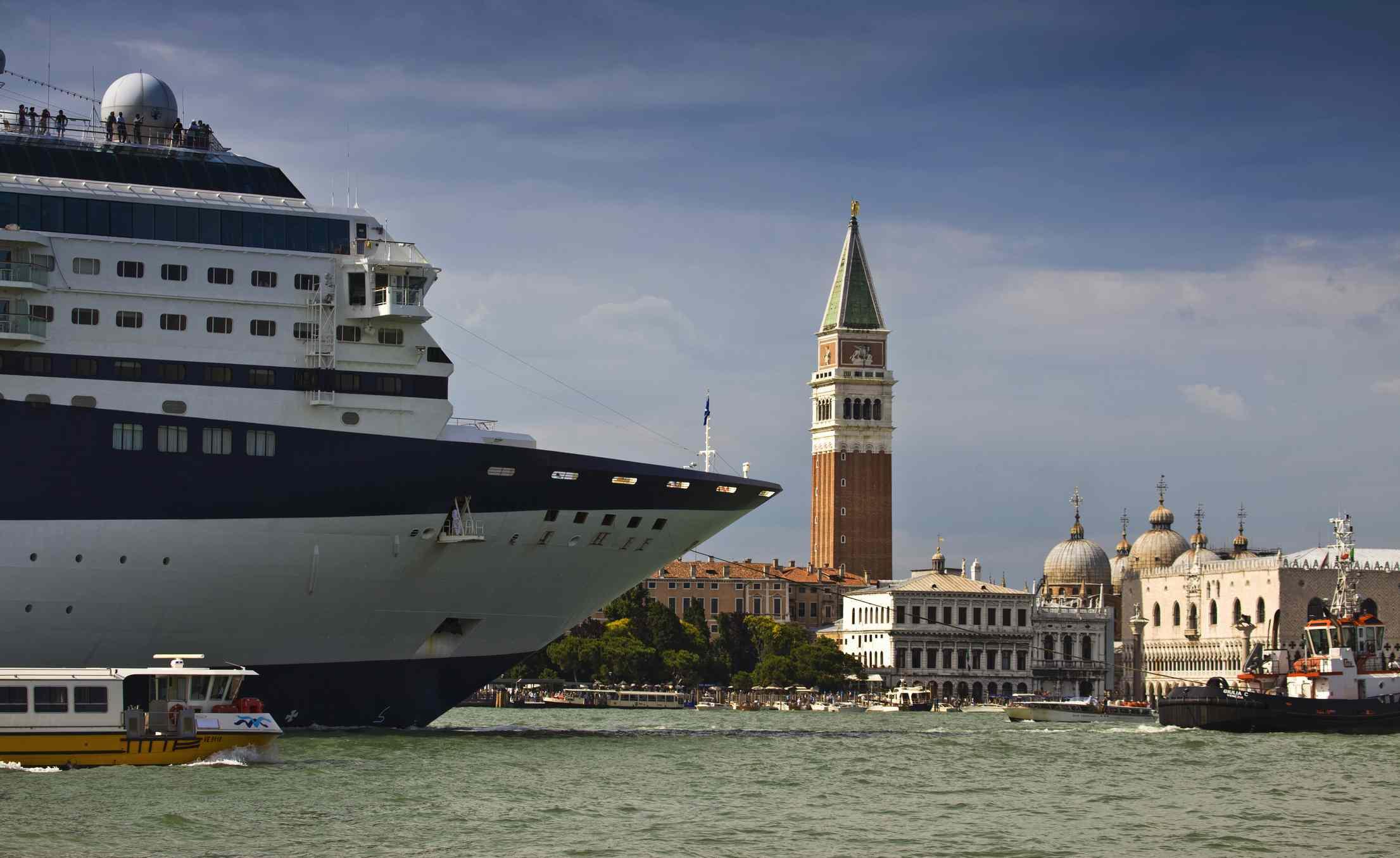 A cruise ship entering Venice, Italy
