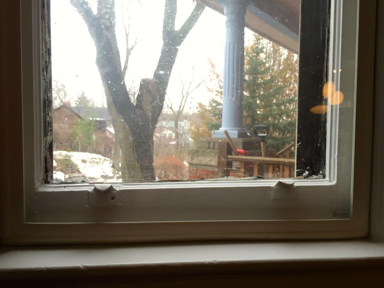 Close up image of windowsill with panel
