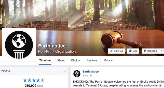 Earthjustice on Facebook
