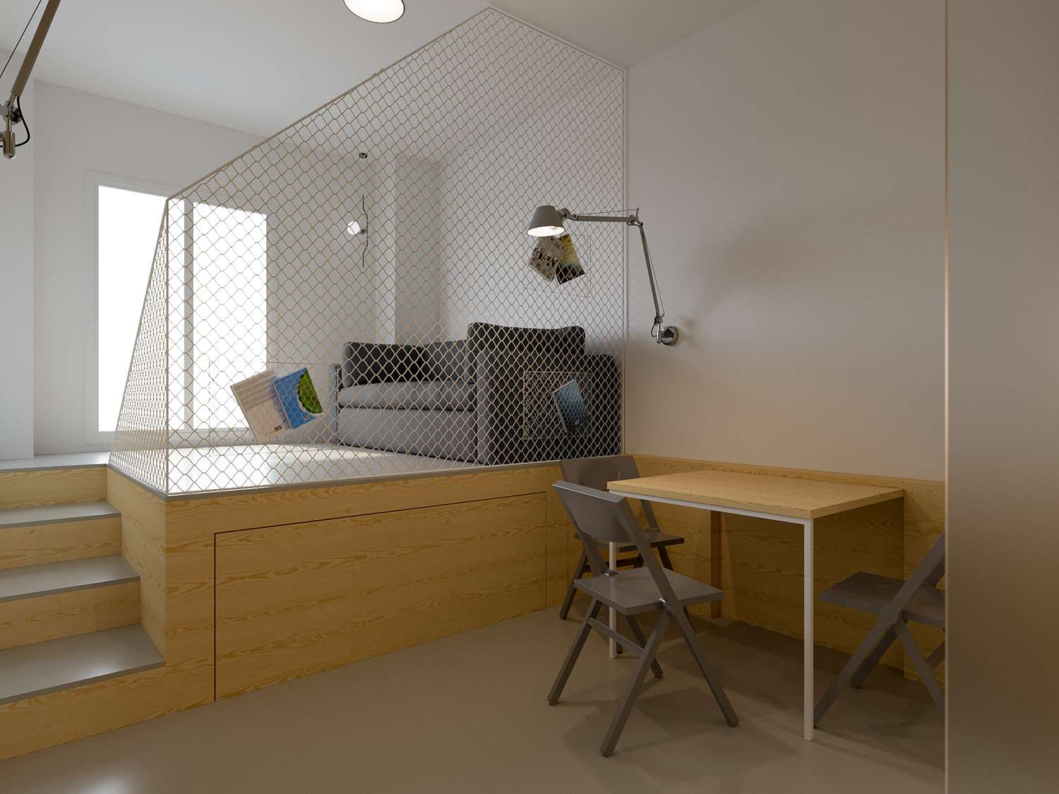 maison b micro-apartment POINT.ARCHITECTS dining