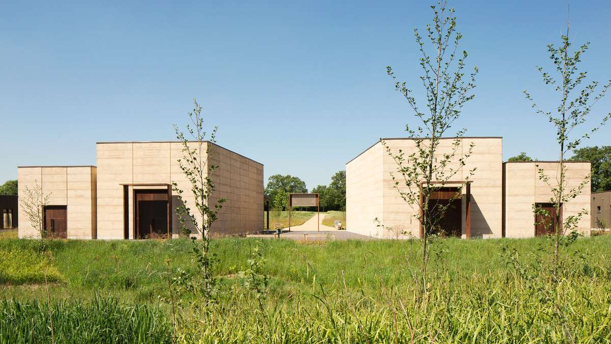 exterior rammed earth side