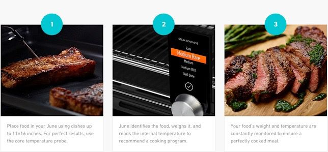 using june the smart toaster oven to cook