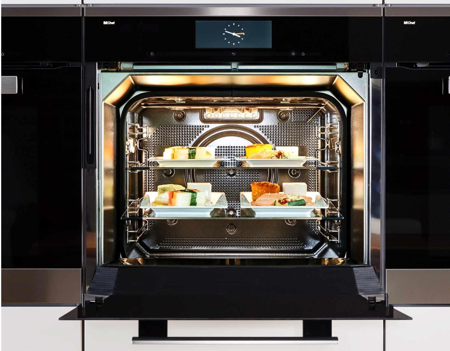 Dialog oven with door open