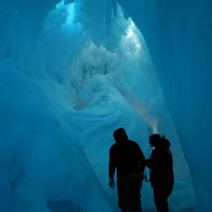 A subglacial Antarctic cave.