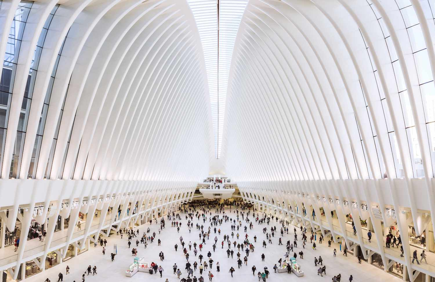 The World Trade Center Transportation Hub central station, known as Oculus.