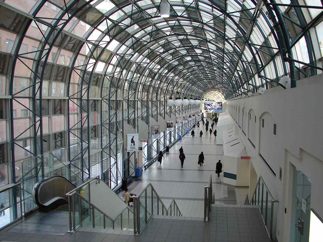 A concourse in Toronto's PATH network